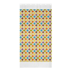 Colorful Rhombus Pattern Shower Curtain 36  X 72  (stall)