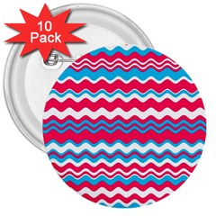 Waves Pattern 3  Button (10 Pack)