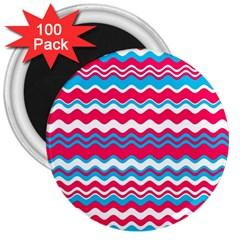 Waves Pattern 3  Magnet (100 Pack)