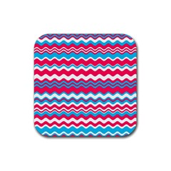 Waves Pattern Rubber Square Coaster (4 Pack)