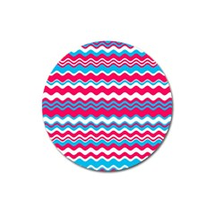 Waves pattern Magnet 3  (Round)