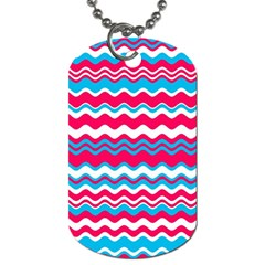 Waves Pattern Dog Tag (one Side)