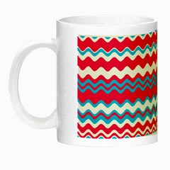 Waves Pattern Night Luminous Mug
