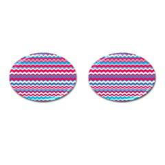 Waves Pattern Cufflinks (oval)
