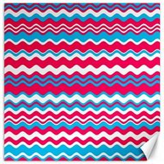 Waves Pattern Canvas 16  X 16