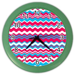 Waves Pattern Color Wall Clock