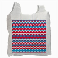 Waves Pattern Recycle Bag (one Side)