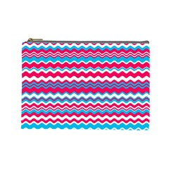 Waves Pattern Cosmetic Bag (large)