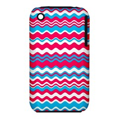 Waves pattern Apple iPhone 3G/3GS Hardshell Case (PC+Silicone)
