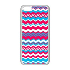 Waves pattern Apple iPhone 5C Seamless Case (White)