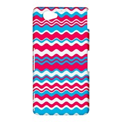 Waves pattern Sony Xperia Z1 Compact Hardshell Case