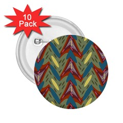 Shapes Pattern 2 25  Button (10 Pack)