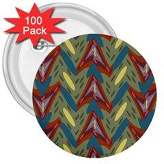 Shapes Pattern 3  Button (100 Pack)