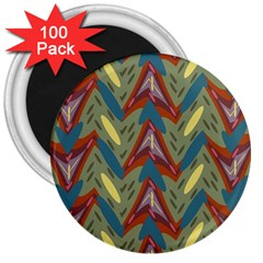 Shapes pattern 3  Magnet (100 pack)