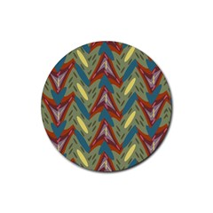 Shapes Pattern Rubber Round Coaster (4 Pack)