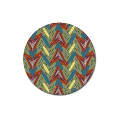Shapes Pattern Magnet 3  (round)