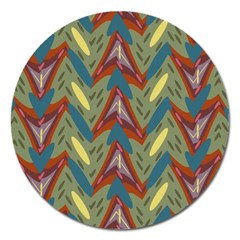 Shapes Pattern Magnet 5  (round)