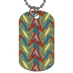 Shapes Pattern Dog Tag (one Side)