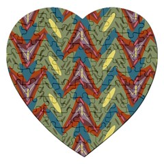 Shapes Pattern Jigsaw Puzzle (heart)