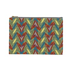 Shapes Pattern Cosmetic Bag (large)