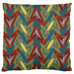 Shapes Pattern Large Cushion Case (two Sides)