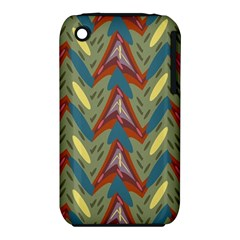 Shapes pattern Apple iPhone 3G/3GS Hardshell Case (PC+Silicone)