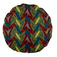 Shapes Pattern 18  Premium Round Cushion