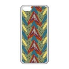 Shapes pattern Apple iPhone 5C Seamless Case (White)