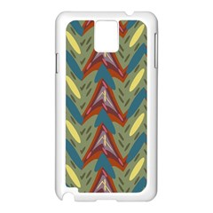 Shapes pattern Samsung Galaxy Note 3 N9005 Case (White)