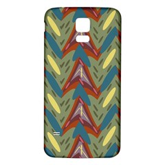 Shapes pattern Samsung Galaxy S5 Back Case (White)