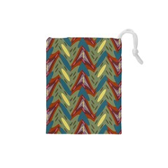 Shapes pattern Drawstring Pouch (Small)