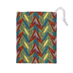 Shapes pattern Drawstring Pouch (Large)