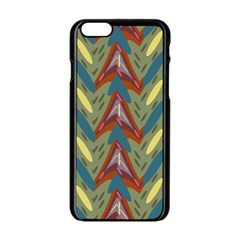 Shapes Pattern Apple Iphone 6 Black Enamel Case