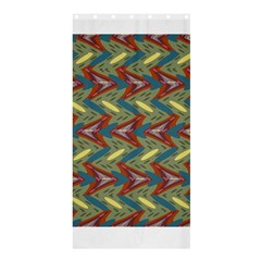 Shapes pattern Shower Curtain 36  x 72  (Stall)