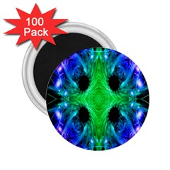 Alien Snowflake 2 25  Button Magnet (100 Pack)