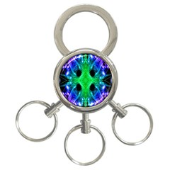 Alien Snowflake 3 Ring Key Chain