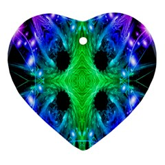 Alien Snowflake Heart Ornament (two Sides)