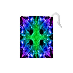 Alien Snowflake Drawstring Pouch (Small)