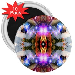 Connection 3  Button Magnet (10 pack)