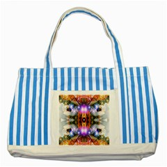 Connection Blue Striped Tote Bag