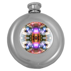 Connection Hip Flask (Round)