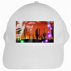 Ghost Dance White Baseball Cap