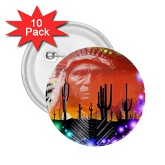 Ghost Dance 2.25  Button (10 pack)