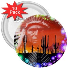Ghost Dance 3  Button (10 Pack)