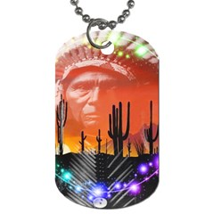 Ghost Dance Dog Tag (one Sided)