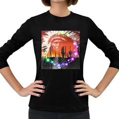 Ghost Dance Women s Long Sleeve T-shirt (Dark Colored)