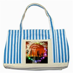 Ghost Dance Blue Striped Tote Bag