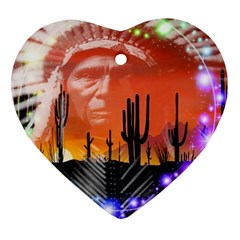Ghost Dance Heart Ornament (Two Sides)