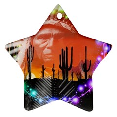 Ghost Dance Star Ornament (Two Sides)