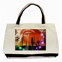 Ghost Dance Twin-sided Black Tote Bag